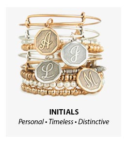 Alex and Ani Initial Bangles